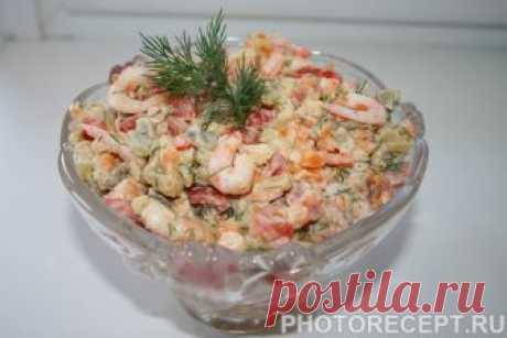 Салат с креветками - праздничные блюда