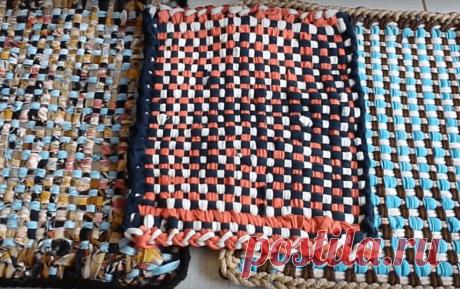 Плетение ковриков из лоскутков на рамке с гвоздиками | Создавай сам | Яндекс Дзен