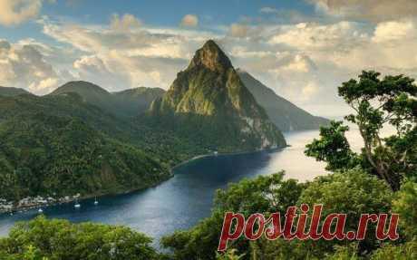 На острове-государстве Сент-Люсия.