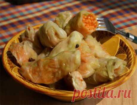 Закусочные кислые голубцы с морковью ⋆ Хозяюшка