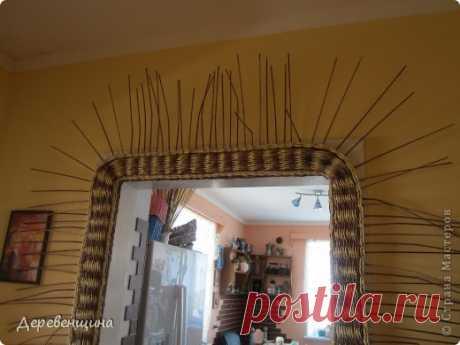 Как украсить дверь плетением из газетных трубочек. Медленно схожу с ума...
