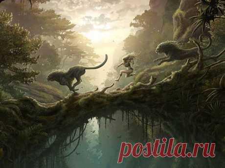 лев девушка джунгли - Обои и картинки - Фентези - Аниме&фентези №4 - farmir