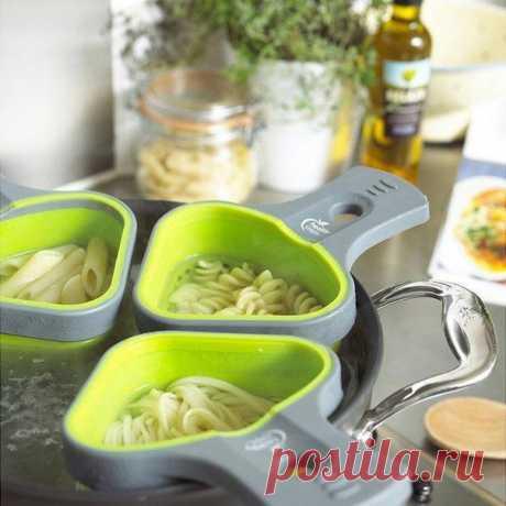 Дуршлаг для варки нескольких сортов макарон или овощей одновременно.