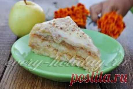 Насыпной яблочный пирог в мультиварке: рецепт