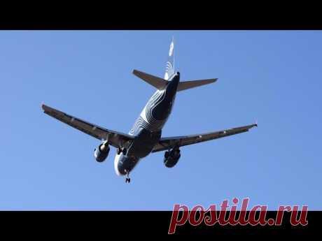 Schöner Start des Flugzeuges AIRBUS A319 der Landung in Wladiwostok und Chabarowsk - YouTube