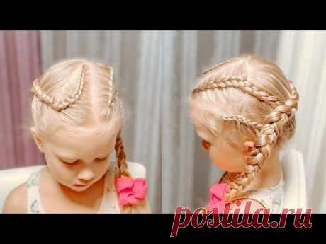 Как заплести косу наизнанку Три косы наизнанку в одной Прически для девочек