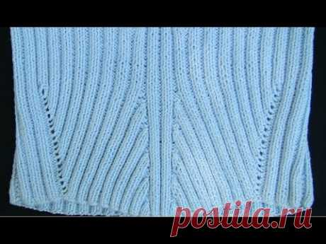 How to knit an elastic band FASHIONABLE reliefs? Very EASILY! #ВязаниеСпицами from Lana Vi