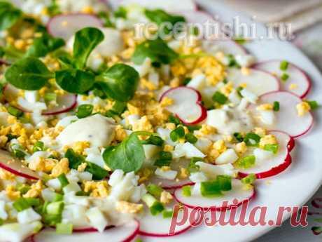 Яичный салат с редисом | Кулинарные рецепты с фото