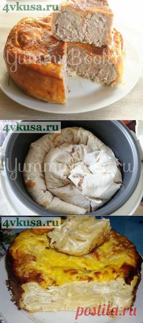 Пирог из лаваша с фаршем в мультиварке | 4vkusa.ru