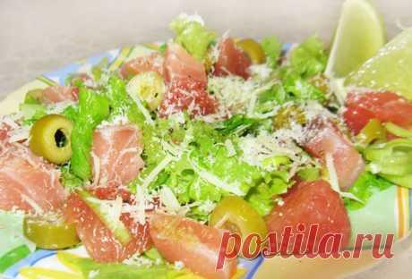 Салат из лосося с грейпфрутом и оливками - рецепт с фото пошагово Салат из лосося с грейпфрутом и оливками - пошаговый кулинарный рецепт приготовления с фото, шаг за шагом.