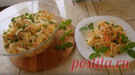 """Салат """"Башкирский""""   Несмотря на то, что в салате присутствуют самые обычные продукты, салат получается очень вкусным и необычным.  Продукты:"""