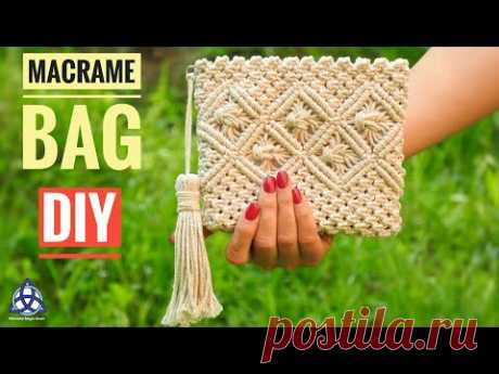 Macrame Bag Tutorial - DIY Macrame Wallet for Girls - YouTube Клач