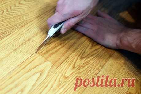 Как аккуратно подрезать линолеум без специального инструмента