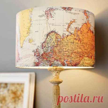 """Винтажный торшер """"Карта мира"""". $75 USD"""
