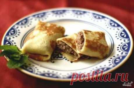 Блинчики с мясом - пошаговый рецепт с фото на Повар.ру