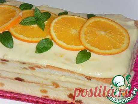 Тирамису с апельсиновым кремом - кулинарный рецепт