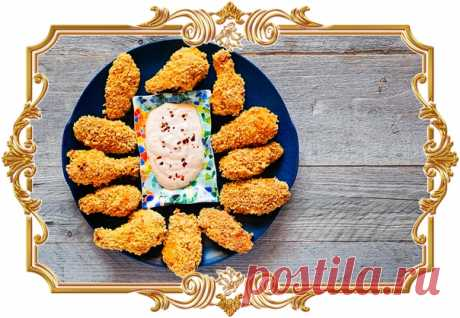 Куриные крылышки в панировке (рецепт без глютена)  Ингредиенты: кукурузные хлопья – 200 гр. куриные крылья (или другие части) – 1 кг. Показать полностью…
