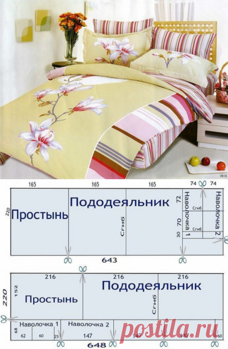 Cutting of bed linen