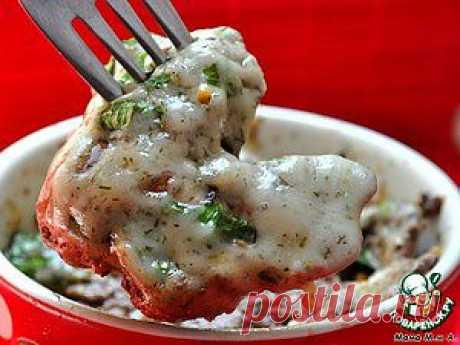 Куриная печень, запеченная в сырном соусе - кулинарный рецепт