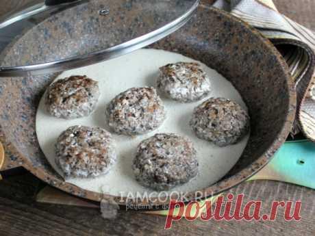 Гречаники с замороженными грибами и фаршем — рецепт с фото Вариант гречаников с мясным фаршем и грибами в сметанном соусе.