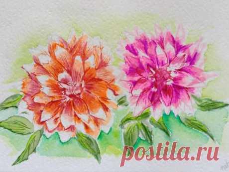 Vibrant wall art Dahlia printable Dahlia botanical art | Etsy