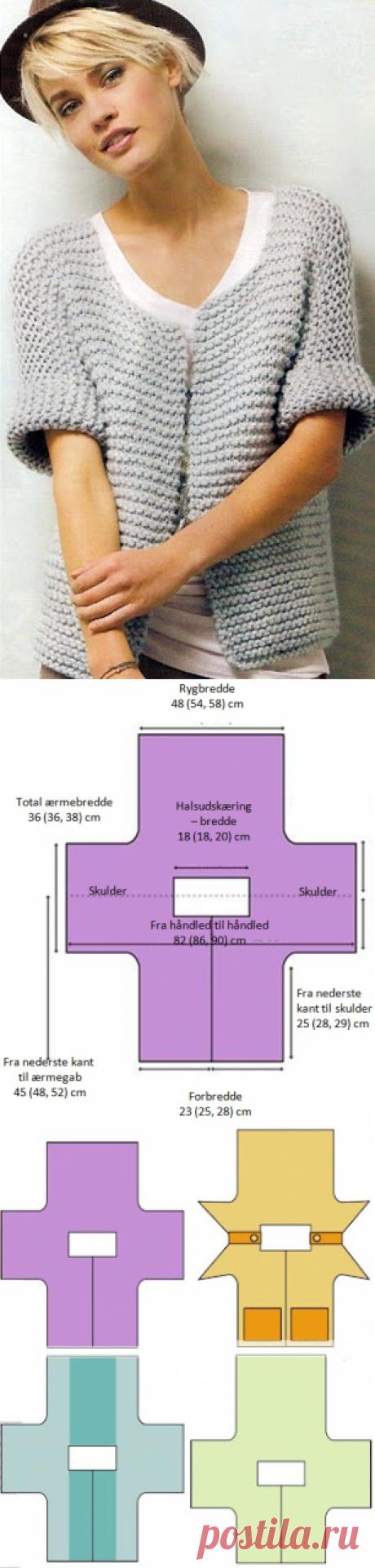 Джемпера с крыла рукава | Strikkeglad.dk