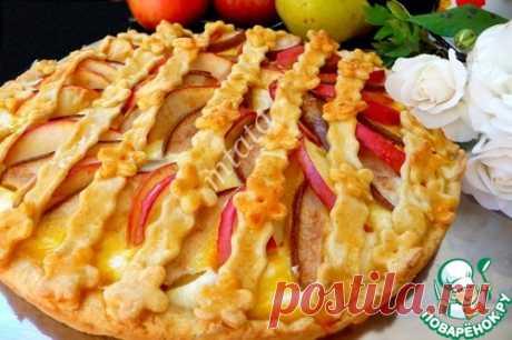 Песочный пирог с творогом и фруктами – кулинарный рецепт