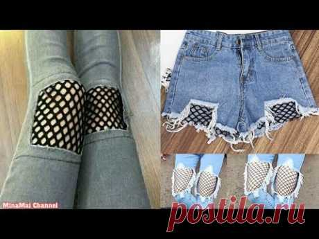 DIY RIPPED JEANS - YouTube