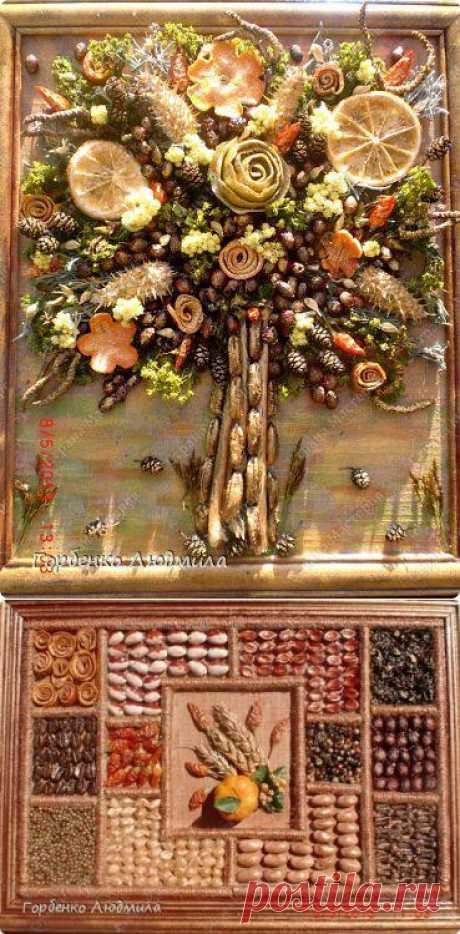 Panel from natural materials. It seems to me that we will remarkably look in kitchen or in the dining room)))