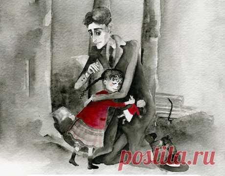 В 40 лет Франц Кафка (1883-1924), который никогда не был женат и не имел детей, гулял по парку в Берлине, когда встретил девочку, которая плакала, потому что потеряла любимую куклу. Они с Кафкой безуспешно искали куклу. Кафка сказал ей ждать его там на следующий день и они вернутся искать куклу. Они искали на следующий день, но не нашли, и тогда Кафка подарил девушке записку «написанную» куклой, в которой говорится: «Пожалуйста, не плачь. Я отправилась в путешествие посмотреть мир. Напишу о…