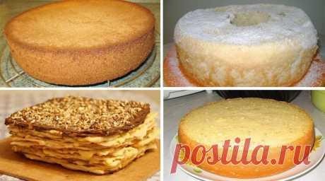 Лучшие коржи для тортов. 6 рецептов приготовления!