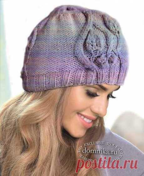 Новые вязаные шапки на осень 2019 - шапки спицами для женщин