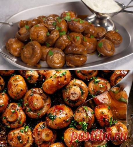 Обалденная немецкая грибная закуска - пряные шампиньоны в чесночном соусе - be1issimo.ru