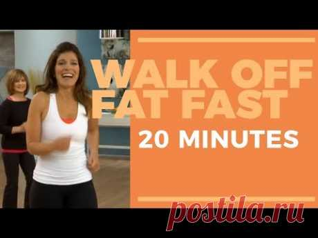 Walk Off Fat Fast 20 Minute   Fat Burning Workout