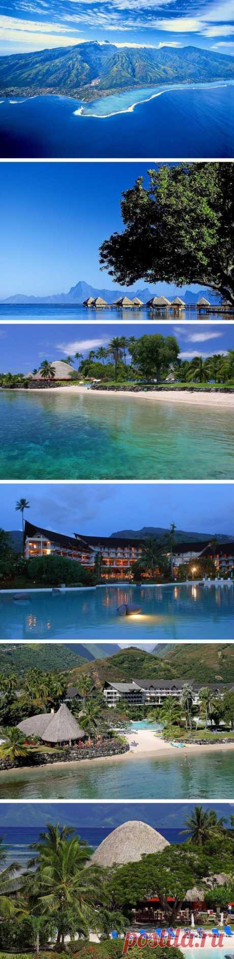 Tocar el trozo de la naturaleza virgen, prístina. La isla Tahití, la Polinesia francesa