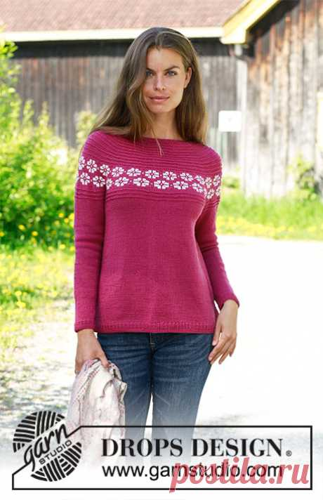 Джемпер Daisy Delight - блог экспертов интернет-магазина пряжи 5motkov.ru