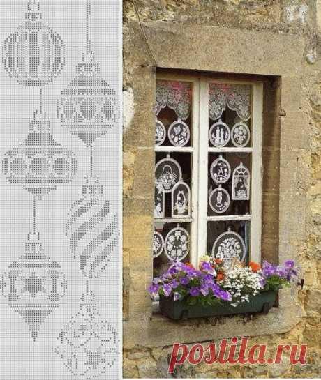Филейное вязание ПРАВИЛА + 63 схемы и фото.   Семейная Кучка