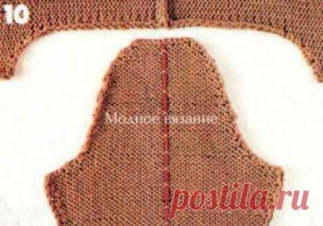Расчет и вязание горловины ,скосов плеча оката рукава и проймы по методу Максимовой - Modnoe Vyazanie ru.com