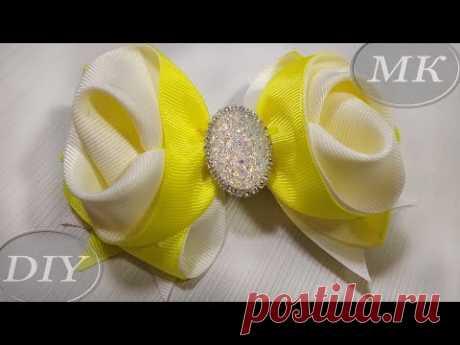 Бант из репсовой ленты 4 см МК  🎀 Bow grosgrain ribbon DIY 🎀 Laço Formoso com Fita numero 9 - YouTube