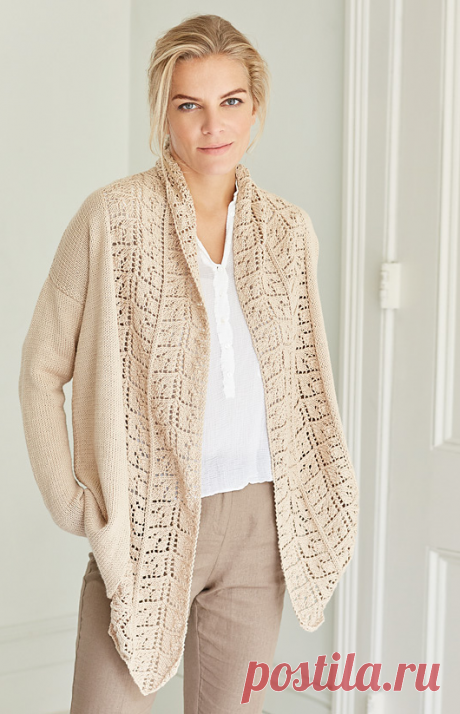 Knitted spokes Soma cardigan | STAY-AT-HOME