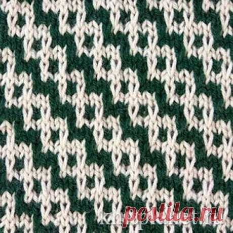 Planet of Knitting   Two-color pattern No. 7. Lazy patterns. Scheme of knitting of a pattern spokes
