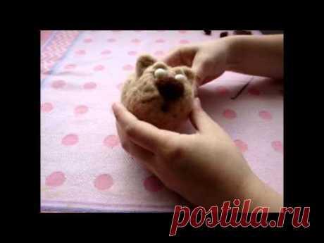 Видео мастер-класс по сухому валянию игрушки - Кот Бакс