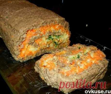 Печёночный рулет с корейской морковкой..