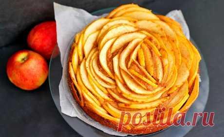 Диетический яблочный пирог без сахара и муки   Рецепты на SuperKuhen.ru