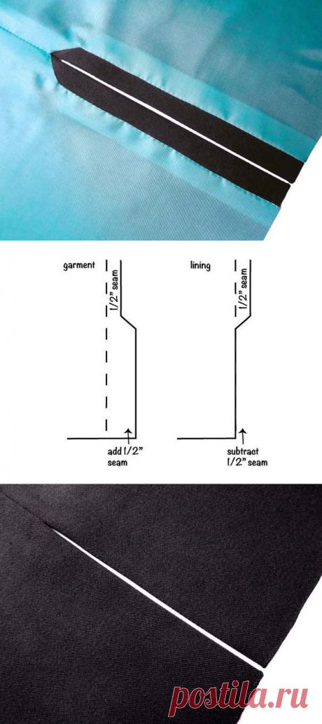 Техники шитья: обработка разреза с подкладкой — Сделай сам, идеи для творчества - DIY Ideas