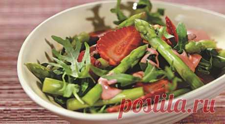 Салат из руколы с клубникой, пошаговый рецепт с фото