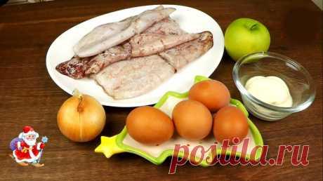 Салат с кальмарами для новогоднего стола. пошаговый рецепт с фотографиями