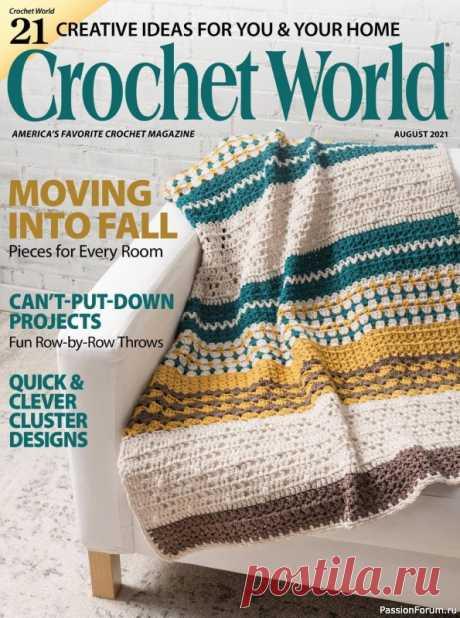 "Журнал ""Crochet World"". August 2021 | Вязаные крючком аксессуары"