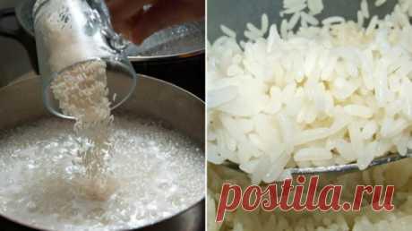 Рисинка к рисинке: теперь только так! Рассыпчатый гарнир даже из самого дешевого риса. — Полезные советы