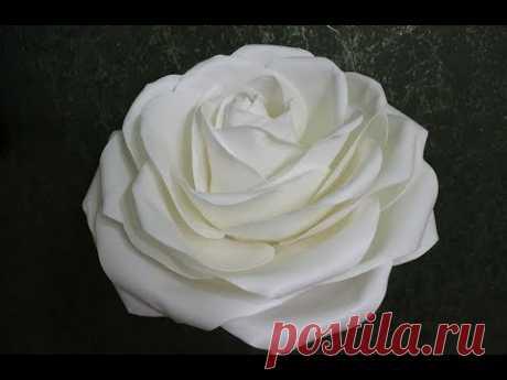 Роза диаметром 55 см из изолона 1мм/ Free master class. Rose from isolone - YouTube